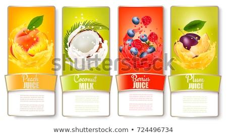 jar · perziken · witte · gezondheid · bank · najaar - stockfoto © kariiika