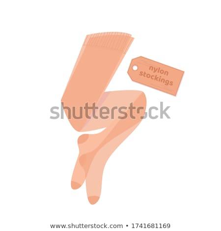 Kahverengi stoklama ince genç kadın sırf Stok fotoğraf © disorderly