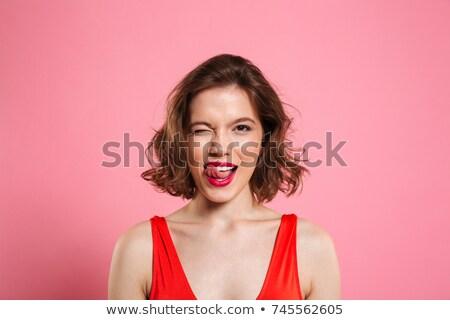 Usta młoda kobieta kobieta dziewczyna piękna Zdjęcia stock © Nobilior