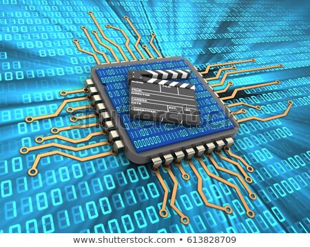 film clap board cinema binary stock photo © alexmillos