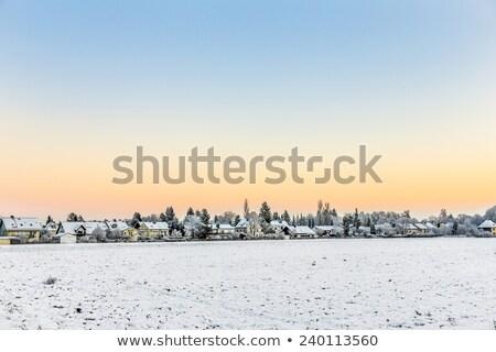 Nieve cubierto campos horizonte Munich cielo Foto stock © meinzahn