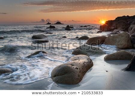 öböl Cornwall tengerpart befejezés tájkép tenger Stock fotó © chris2766