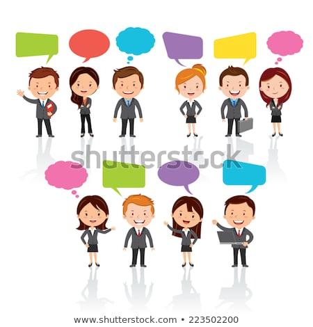 karakter · düşünce · karışık · düşünmek · iletişim · kurmak - stok fotoğraf © lineartestpilot