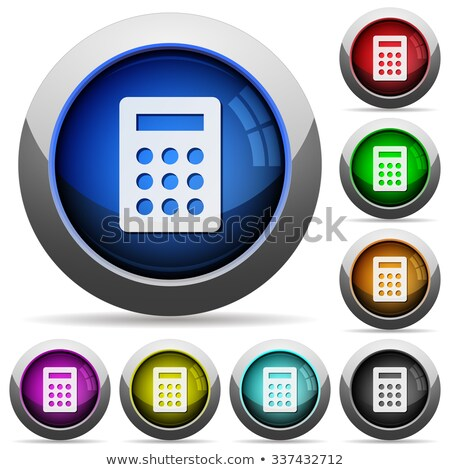 Multiply blue Vector Web Button Icon Set Stock photo © rizwanali3d