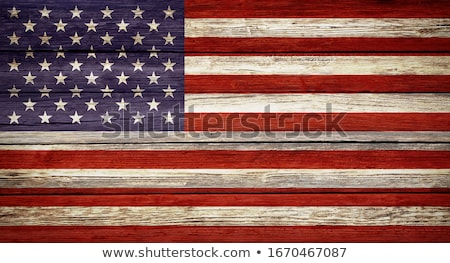 American Wooden Flag Stock photo © olgaaltunina