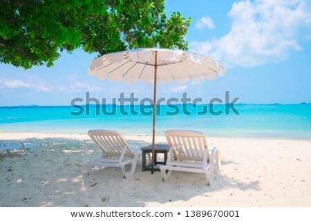 Nyári vakáció Bulgária tengerpart személy tart kártya Stock fotó © stevanovicigor