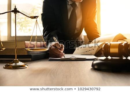 Ley libro martillo contrato justicia abogado Foto stock © Zerbor