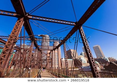 boston northern avenue bridge in massachusetts stock photo © lunamarina