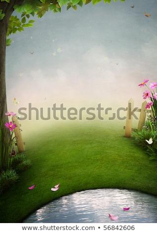Pasaje verano jardín otono árbol paisaje Foto stock © Pilgrimego
