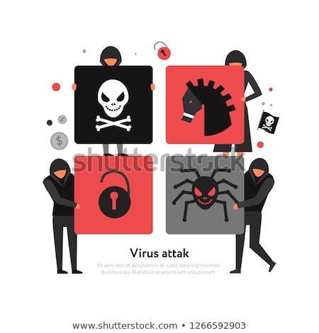 Hacker - Text on Red Puzzles. Stock photo © tashatuvango