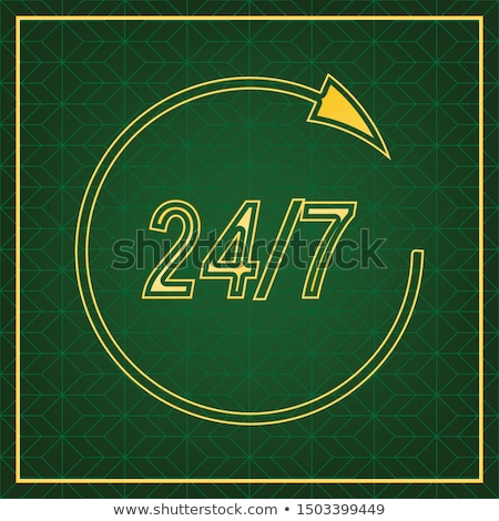 24 línea de ayuda apoyo dorado vector icono Foto stock © rizwanali3d