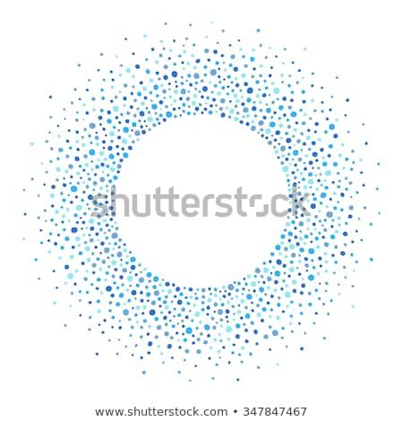 Kék körök minta spray festett mintázott Stock fotó © sirylok