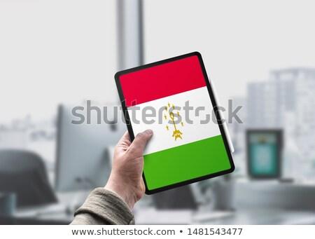 Tablet with Tajikistan flag Stock photo © tang90246