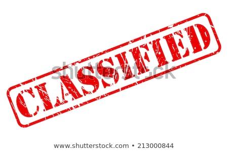 classified stamp stock photo © fuzzbones0