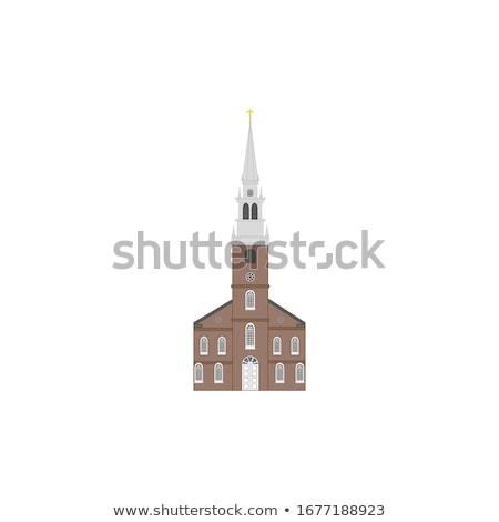 Kapel bel toren antieke zeemeeuw tip Stockfoto © zhekos