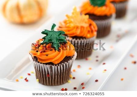 チョコレート 装飾された 秋 オレンジ ストックフォト © rojoimages