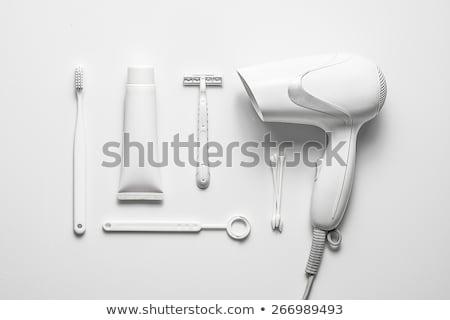 Secadora de pelo blanco moda pelo belleza Foto stock © ozaiachin