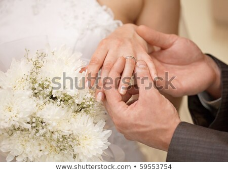 fiance gives bouquet to the bride Stock photo © Paha_L