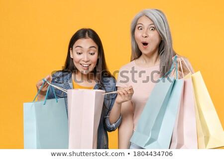 Сток-фото: ребенка · мешки · магазин · девушки · стороны · ребенка