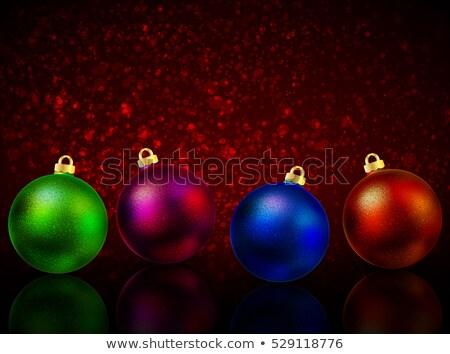 Arany labda vektor ünnep karácsony kék Stock fotó © rommeo79