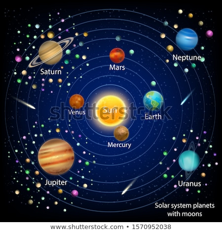 太陽系 · 惑星 · 黒 · 太陽 · 地球 · 冥王星 - ストックフォト © amosnet