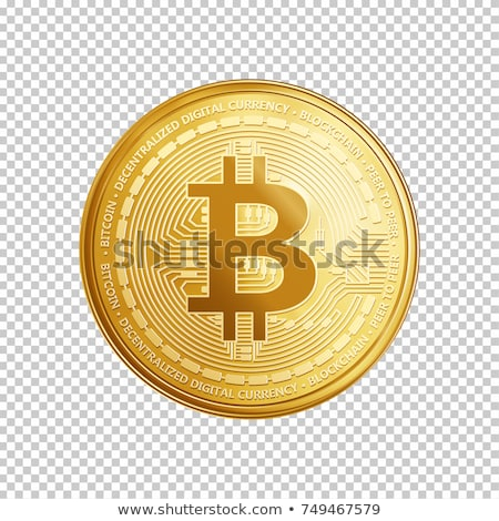 Bit Coin Currency Sign Gold Coin Vector Icon Stock photo © rizwanali3d