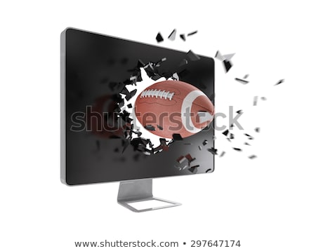 football destroy computer screen. Stock photo © teerawit