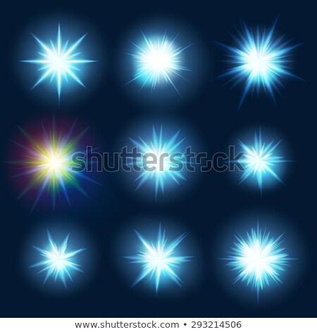 Conjunto azul faíscas eps Foto stock © beholdereye