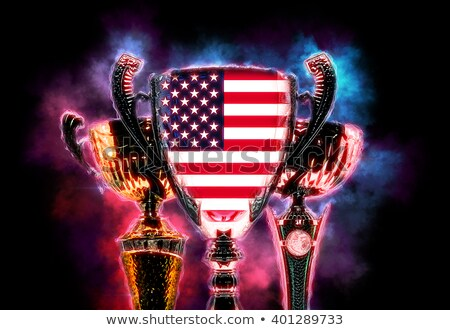 Trophy cup textured with flag of USA. Digital illustration Stock photo © Kirill_M