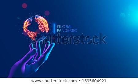 mãos · médico · médico · azul · mão · saúde - foto stock © Kurhan