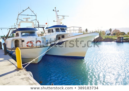 Cullera fisherboats port in Xuquer Jucar river Stock photo © lunamarina