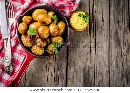 Vaj olvad sült krumpli ebéd részlet Stock fotó © Digifoodstock