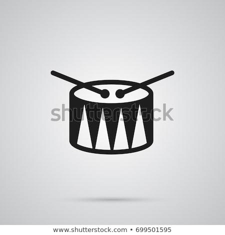 Tambor iconos ilustración música signo grupo Foto stock © bluering