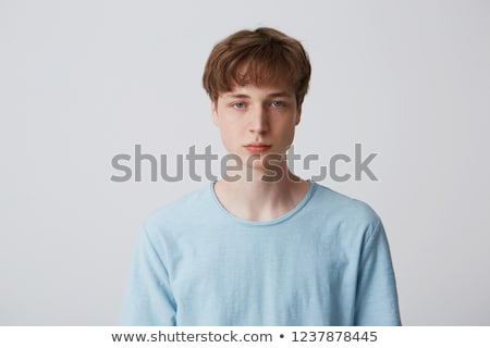 Oczy nastolatek chłopca tablicy szkoły szczęśliwy Zdjęcia stock © neirfy
