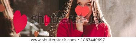 笑みを浮かべて · 少女 · バナー · 幸せ · 年 · 古い - ストックフォト © FOTOYOU