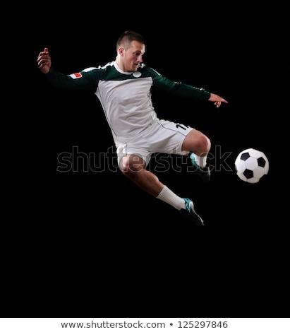 мужчины · футболист · черный · человека · Футбол - Сток-фото © nickp37