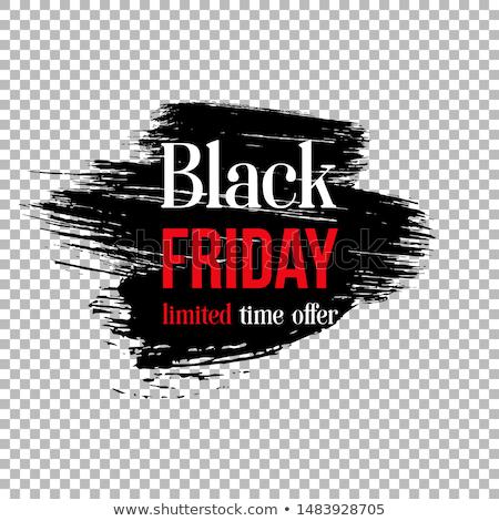 черная пятница продажи плакат дизайна черный чернила Сток-фото © SArts
