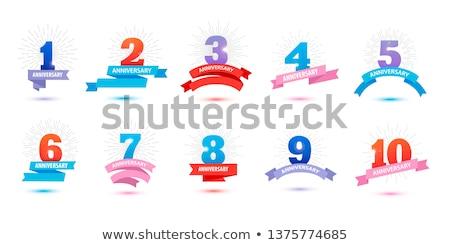 3d retro style four badges set stock photo © sarts