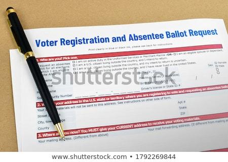 アプリケーション 投票 投票 ペン 銀 アメリカン ストックフォト © mybaitshop