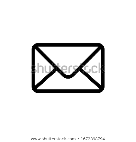 mail icon isolated on white message vector stock photo © robuart