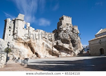 ruine of castle in zuheros Stock photo © compuinfoto
