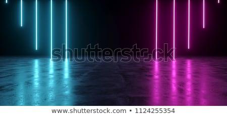 Sötét absztrakt futurisztikus alagút fény csíkok Stock fotó © cherezoff