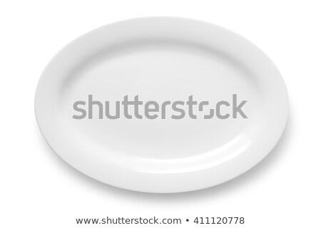Beyaz oval plaka derin temizlemek modern Stok fotoğraf © Digifoodstock
