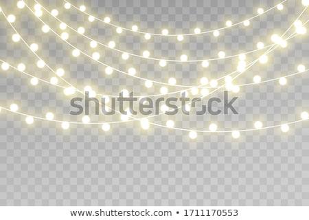 natal · lâmpadas · vetor · noite · árvore - foto stock © orson