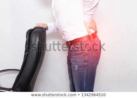 Pinched nerve. Medical Concept on Red Background. Stock photo © tashatuvango
