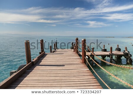 a wooden boardwalk in kota kinabalu in malaysia stock photo © chrisukphoto