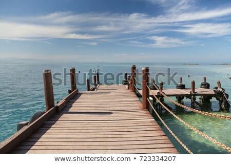 Ahşap Malezya görmek plaj gökyüzü manzara Stok fotoğraf © chrisukphoto