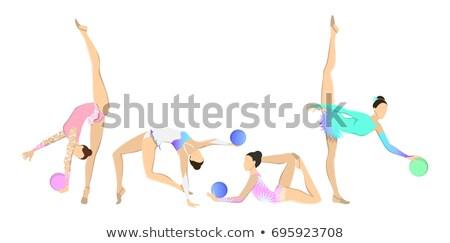 Sport icon. Rythmic gymnastic Stock photo © anyunoff
