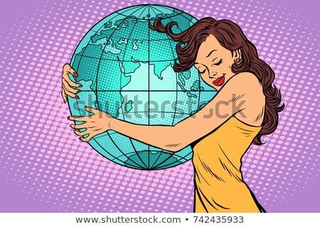 föld · napja · illusztráció · Föld · mosolyog · ölelés · boldog - stock fotó © rogistok