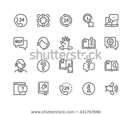 Információ jel vonal ikon sarkok háló mobil Stock fotó © RAStudio